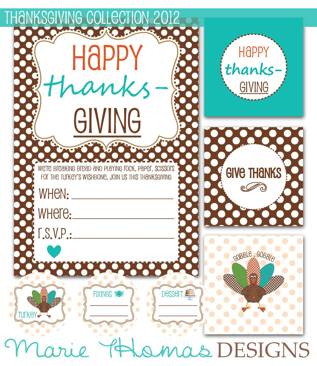 Thanksgiving Printable Collection