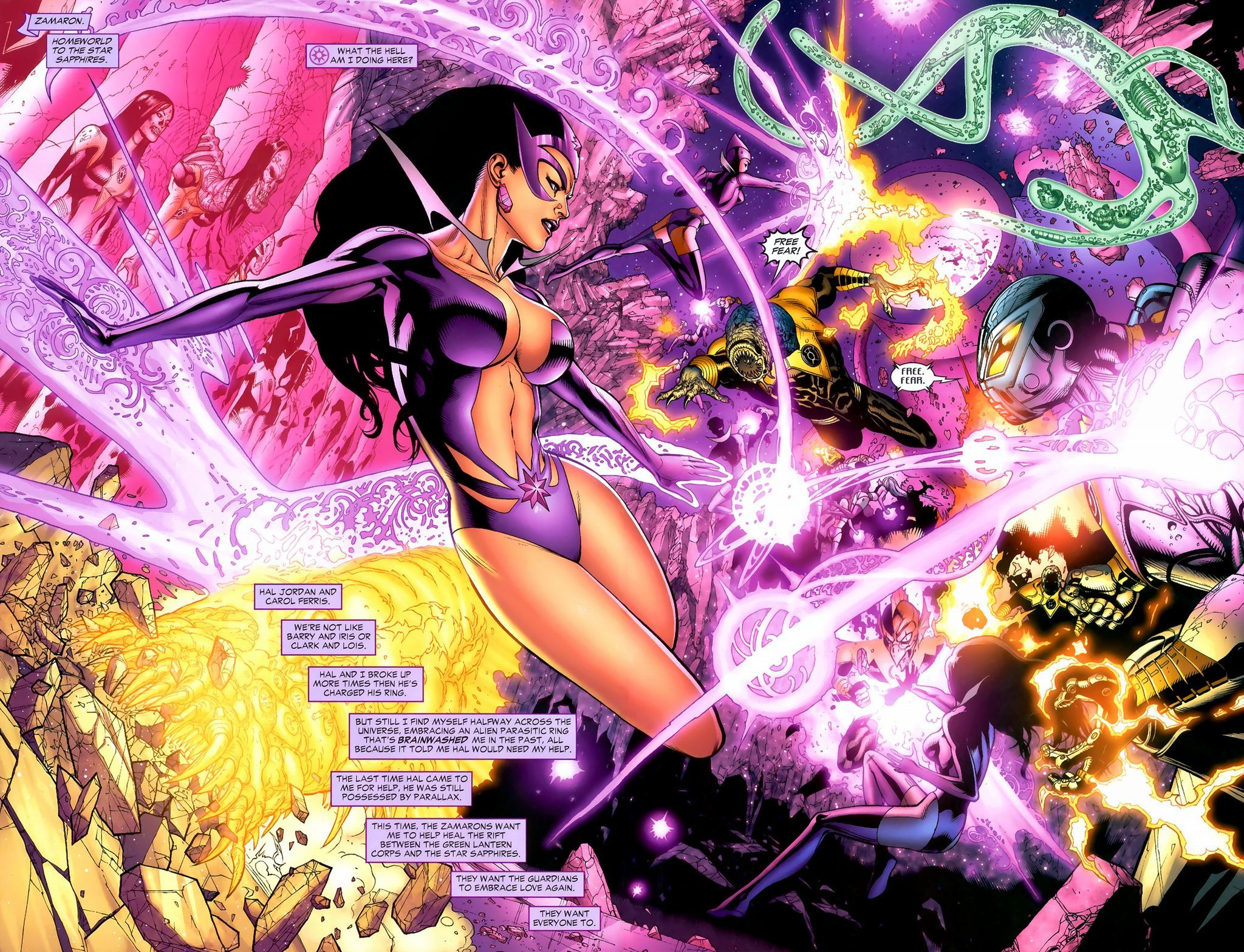 Carol Ferris Screenshots Images And Pictures Star Sapphire Star Sapphire Dc Green Lantern Corps