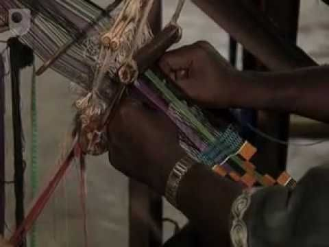 INTRODUCTION TO KENTE WEAVING IN GHANA. shows many examples.