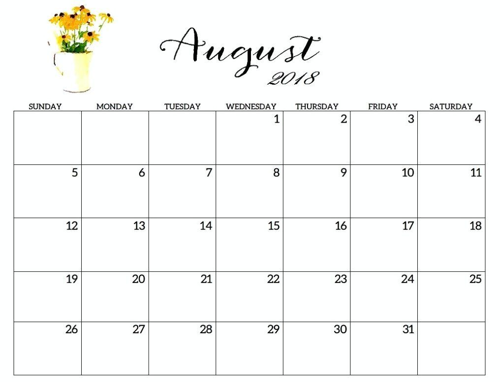 picture relating to Calendar Template for Pages named Calendar August 2018 Template Web pages Free of charge August 2018