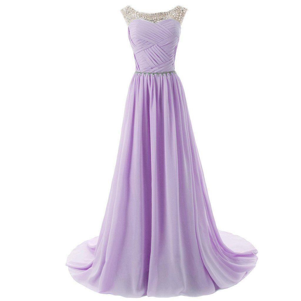 Lemai sheer crystals criss cross long beaded corset a line prom