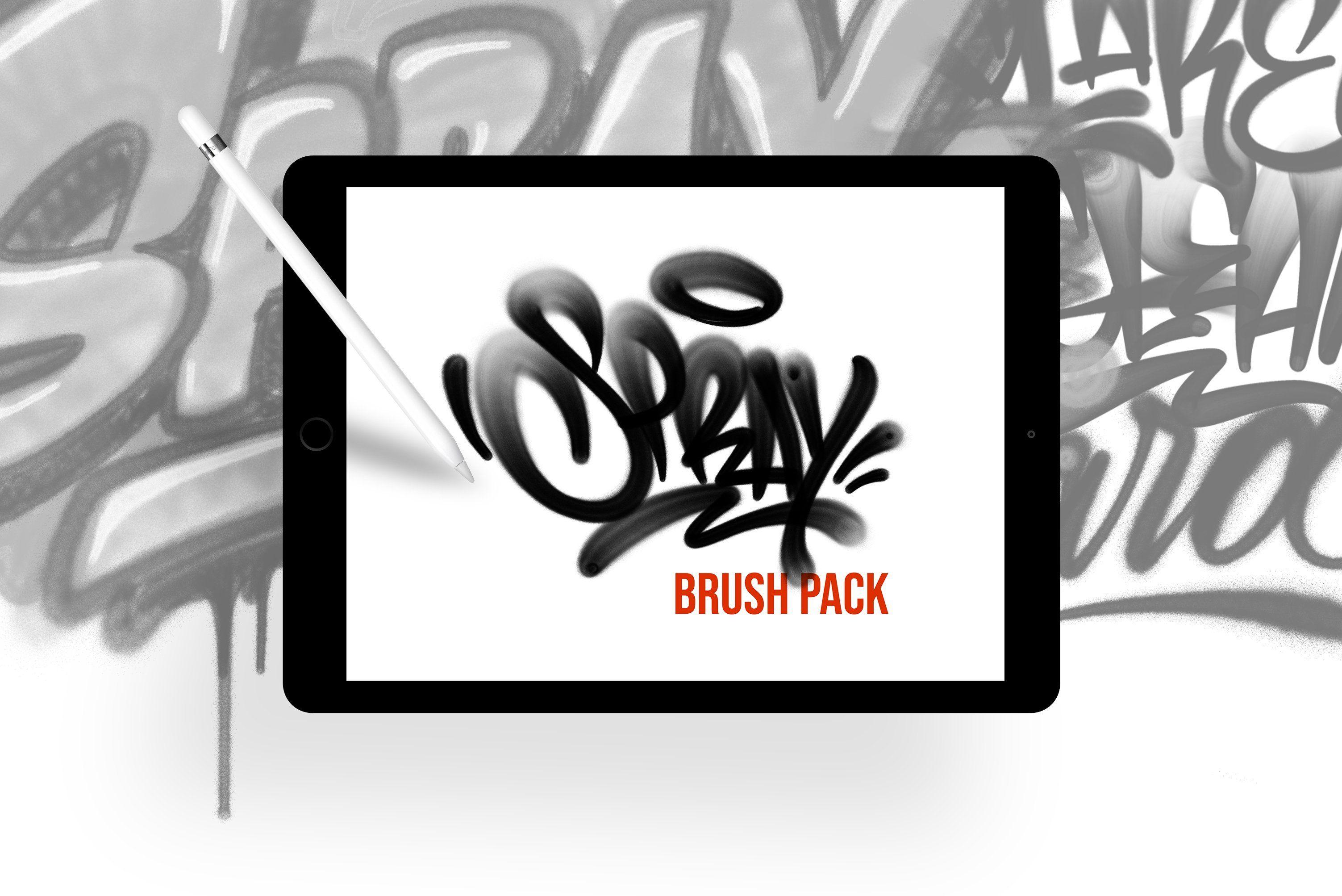Spray Brush Pack For Procreate Procreate Brush Graffiti Artist