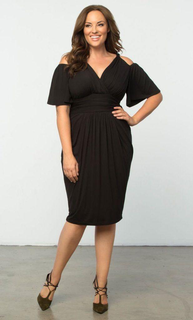 147d6d269b8 Plus Size Clothing SALE - Take EXTRA 60% OFF with Code  EXTRA60 -  Tantalizing Twist Dress - Black Noir  plussize  plussizefashion   CurvaliciousClothes