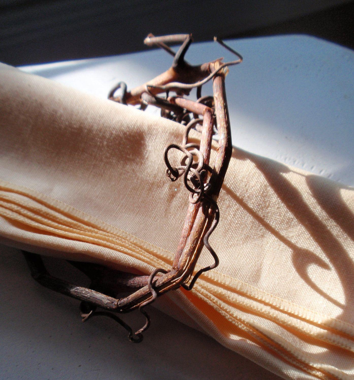 Rustic Wedding Decor Grapevine Napkin Rings - set of 6 ... - photo#20