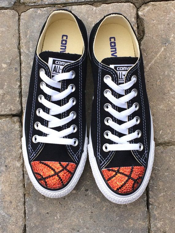 acf103a3310c Basketball Bling. Low Top Converse. Custom Converse Shoes. Womens Shoes.  Basketball Moms