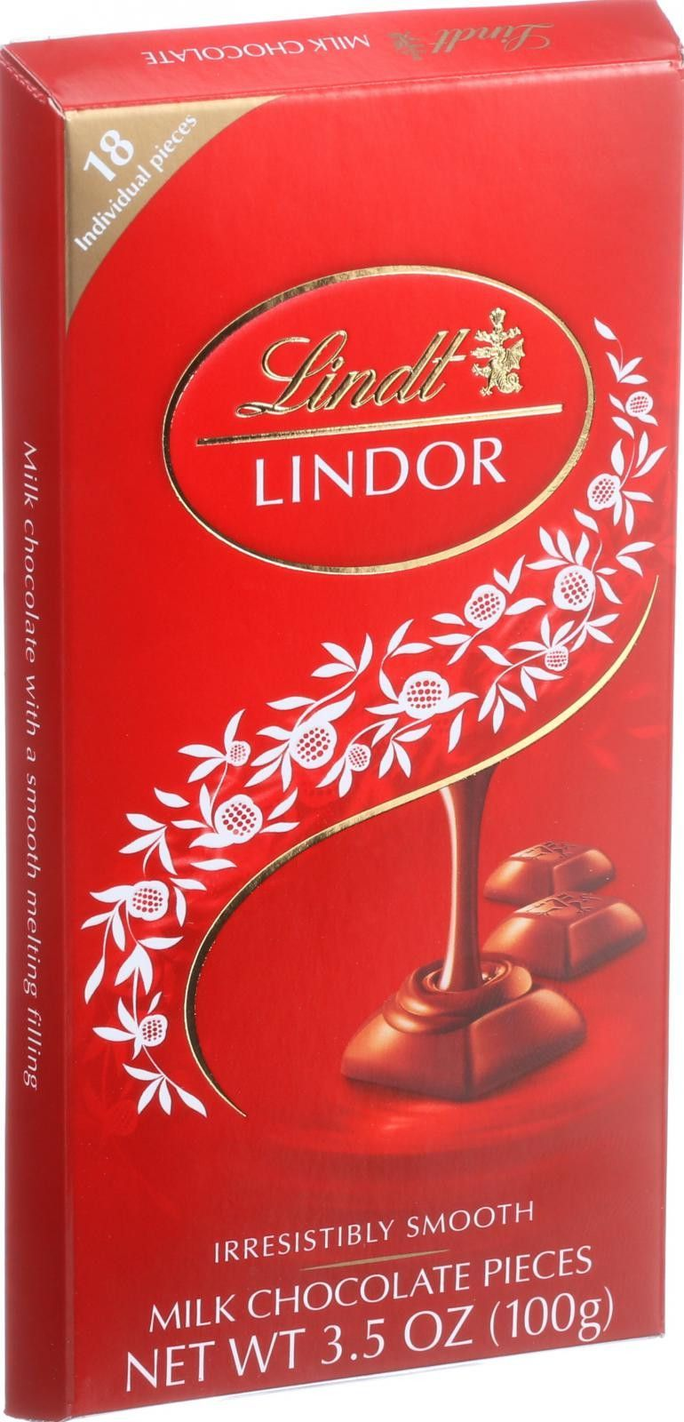 Lindt Chocolate Pieces - Truffles - Milk Chocolate - 3.5 oz - Case of 12