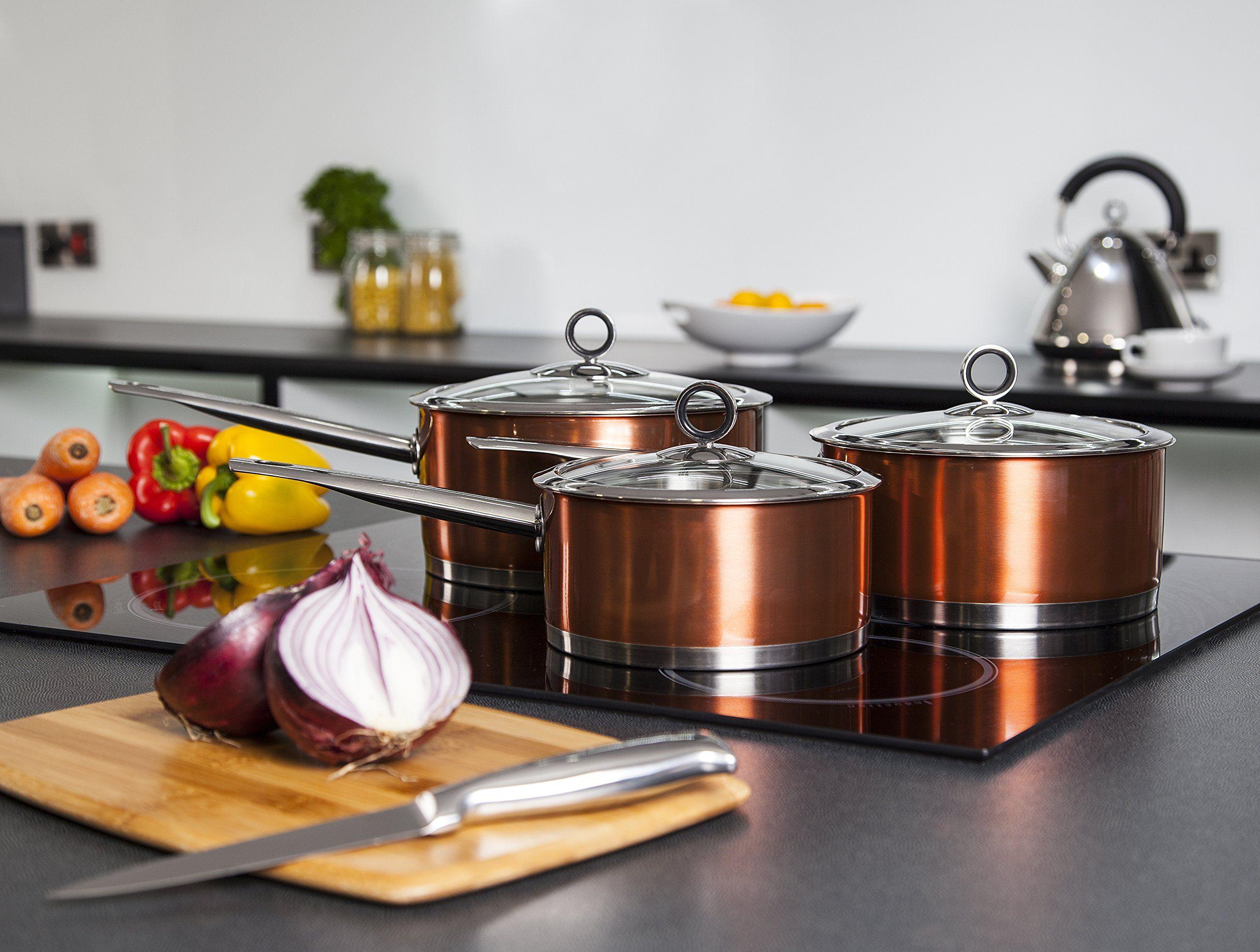 Morphy Richards 46394 3-Piece Accents Copper Pan Set: Amazon.co.uk: Kitchen & Home