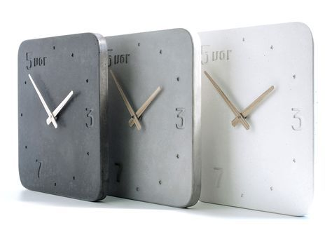 Moderne Wanduhr moderne wanduhr aus beton in zeitlosem design wanduhr