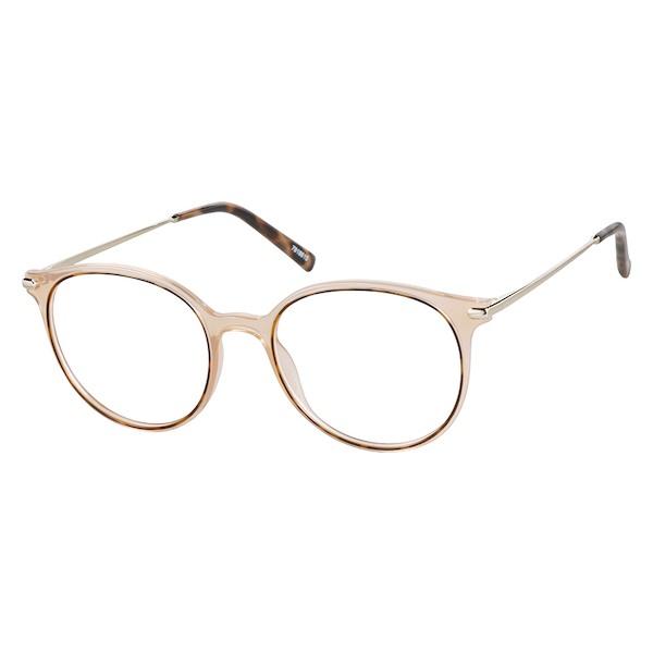 3e6c607b66 Zenni Round Prescription Eyeglasses Brown Tortoiseshell Mixed Materials  7818615