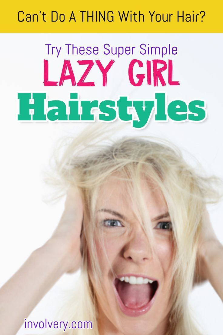 10 EASY Lazy Girl Hairstyle Ideas and Hacks {Step By Step Video Tutorials} -   6 hairstyles Simple lazy girl