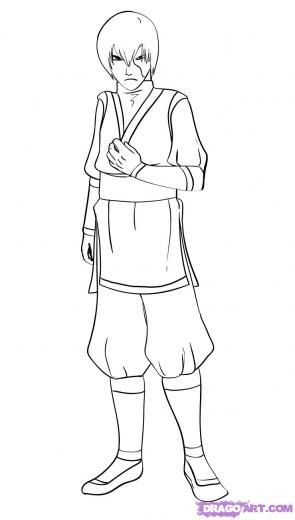 Step 9 How To Draw Prince Zuko From Avatar The Last Airbender Avatar The Last Airbender Prince Zuko The Last Airbender