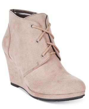 e5c59488b1e Style   Co Alaisi Lace-Up Wedge Booties