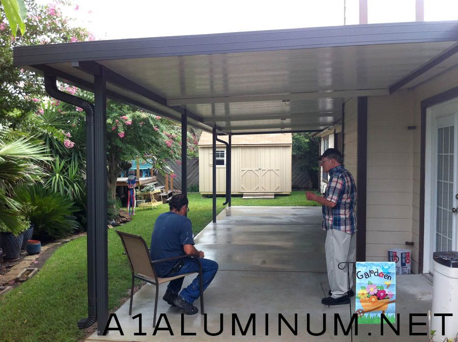 Aluminum Patio Cover With Fan Beams In Clear Lake » A 1
