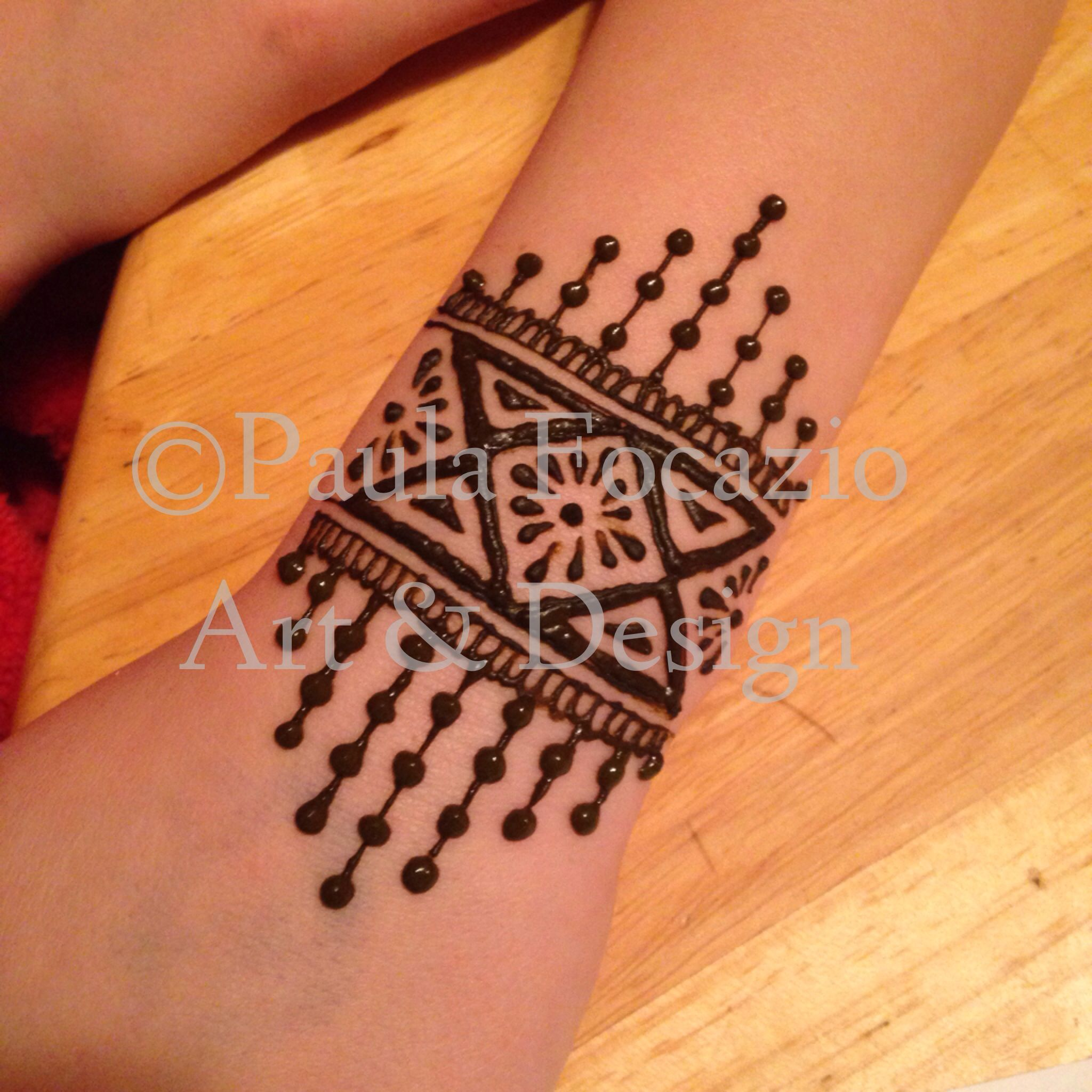 Mehndi Tattoos For Arm : Henna mehndi cuff bracelet by paula focazio art design