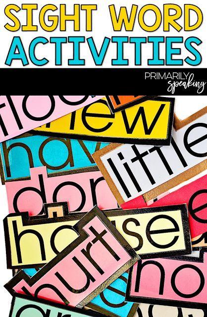 Sight Words Activities {Weekend Warriors} Pinterest Primary