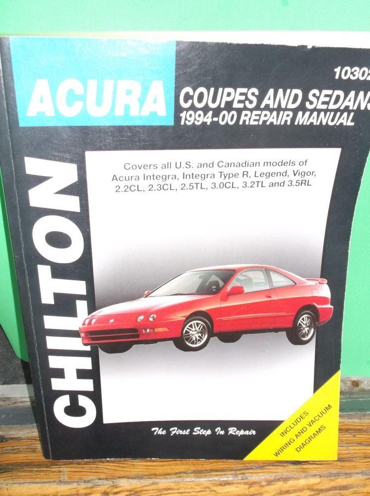 Chilton Acura Coupes Sedans 1994 2000 Repair Manual 10302 Acura Coupe Repair Manuals Acura