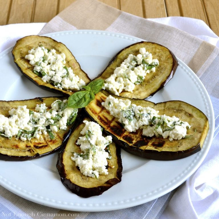 Grilled Eggplant with Basil Feta Not Enough Cinnamon