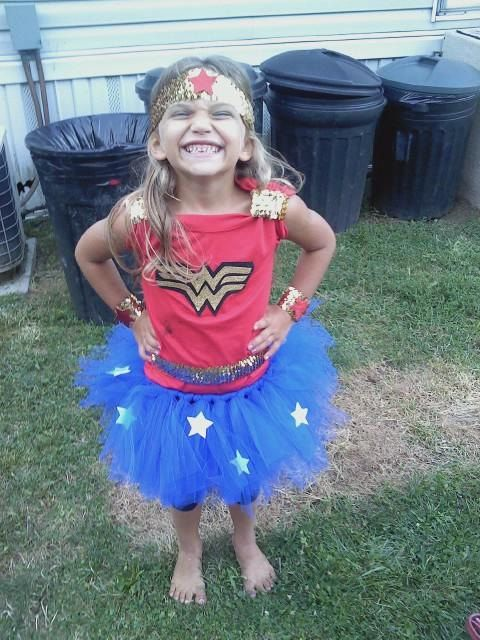 Wonder Woman Tutu Costume Small 3 month to 3T costumes Pinterest - halloween ideas for 3