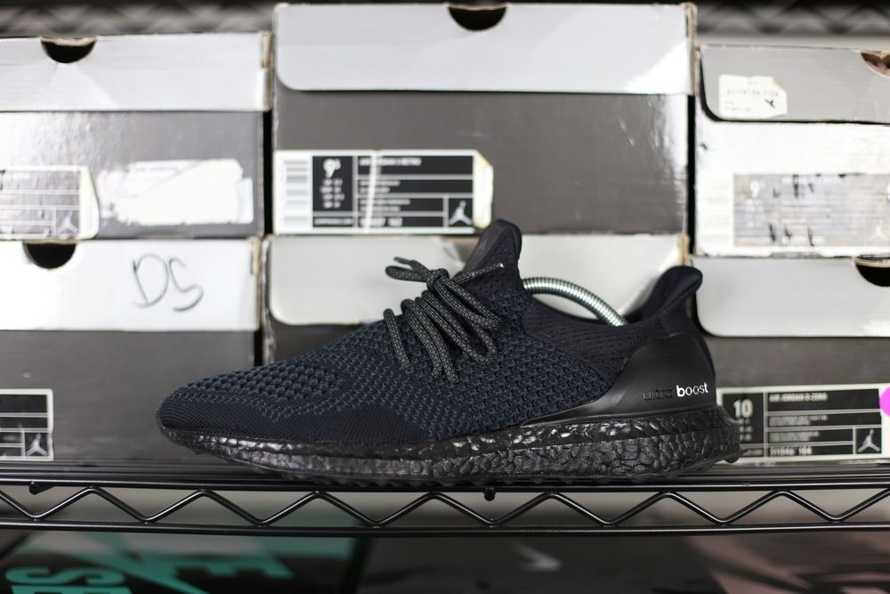 new products c9eb2 6cc67 ADIDAS ULTRABOOST CUSTOM blackout triple black knit runner