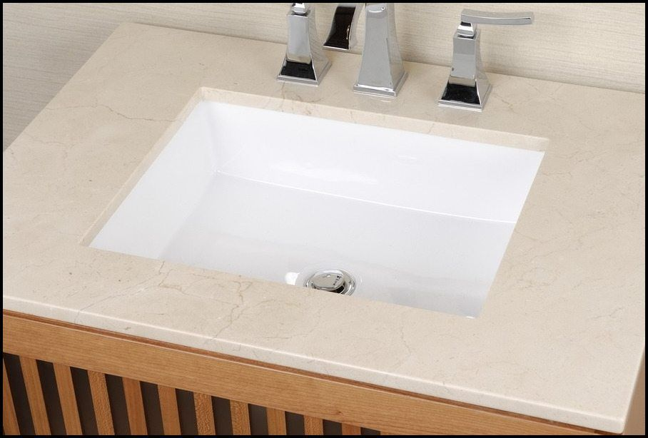 Small Rectangular Undermount Bathroom Sink