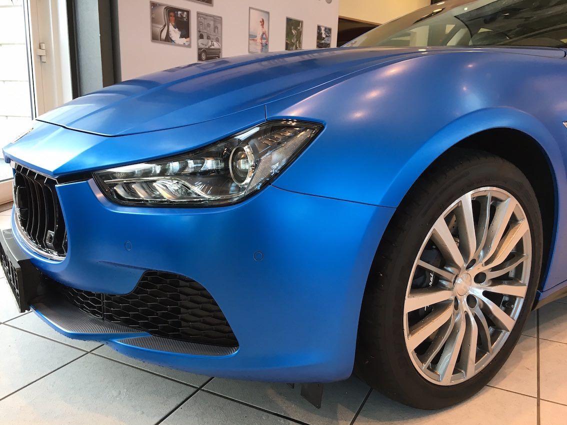 #Maserati #Ghibli #Blau #Foliert #Motorhaube #Regensburg #Autohaus