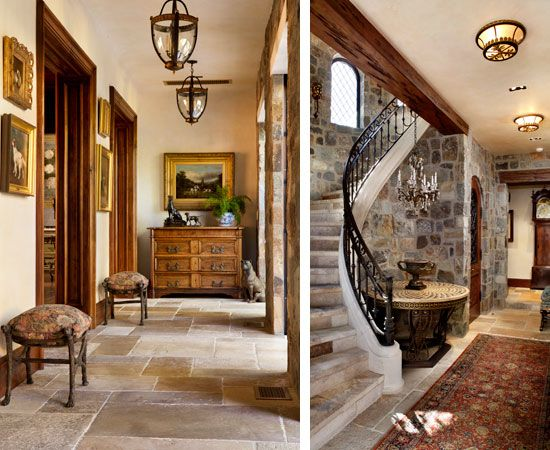 Stunning Entries Love The Stone Walls And Floor With Rich