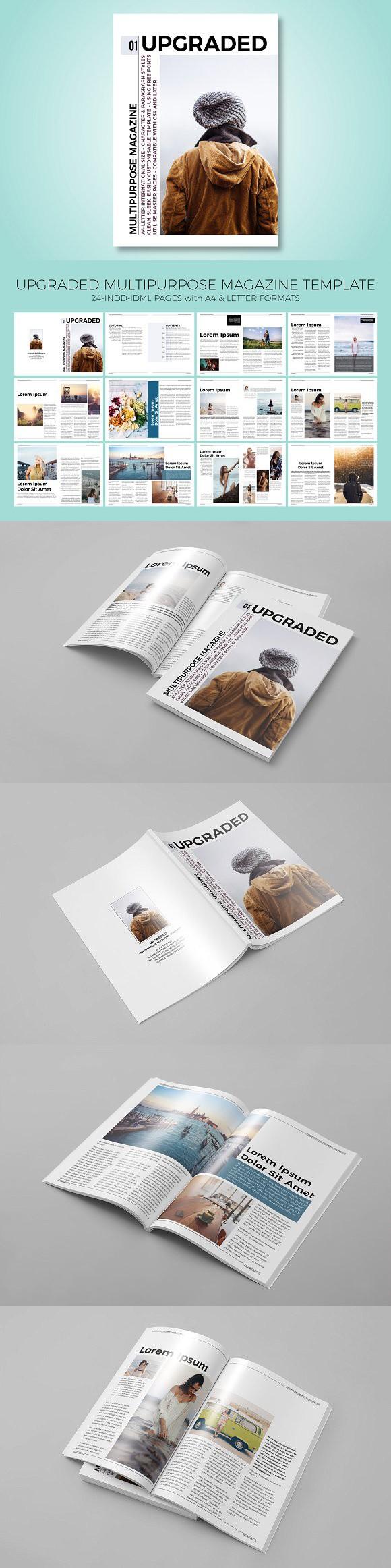 Upgraded Magazine Template. Magazine Templates | Magazine Templates ...