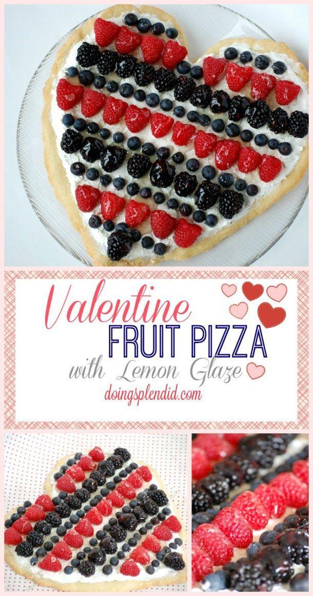 Valentine Fruit Pizza with Lemon Glaze - Doing Splendid Valentine Fruit Pizza with Lemon Glaze - Do