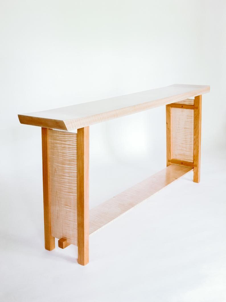 Longue étroite en forme de console table: table en bois fait à