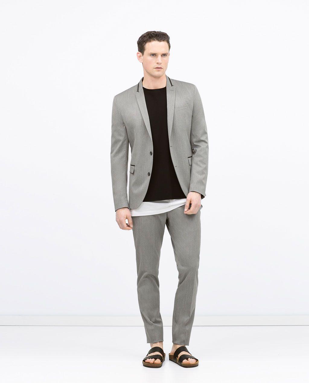 Fashion Trajes Winter Style Hombre Gris Zara Estructura zXn8O5q