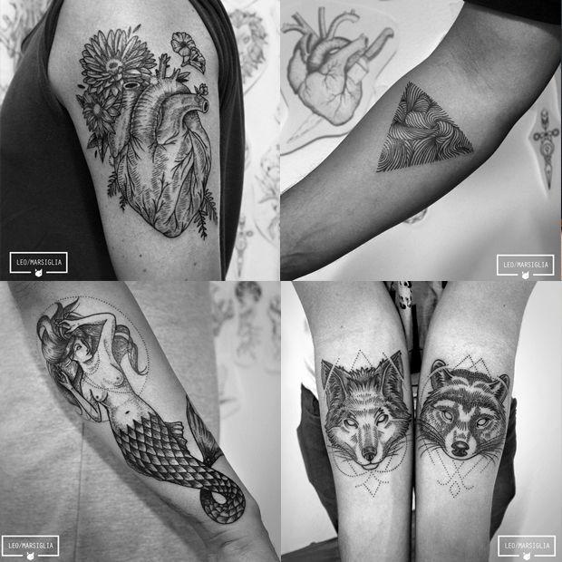 #tattoofriday - Léo Marsiglia do Estúdio Tattoo Ink em São Paulo;