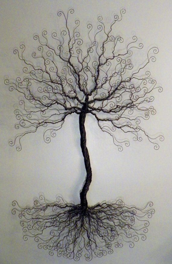 4 foot wire tree wall mount sculpture display by ivysgembox, $245.00 ...