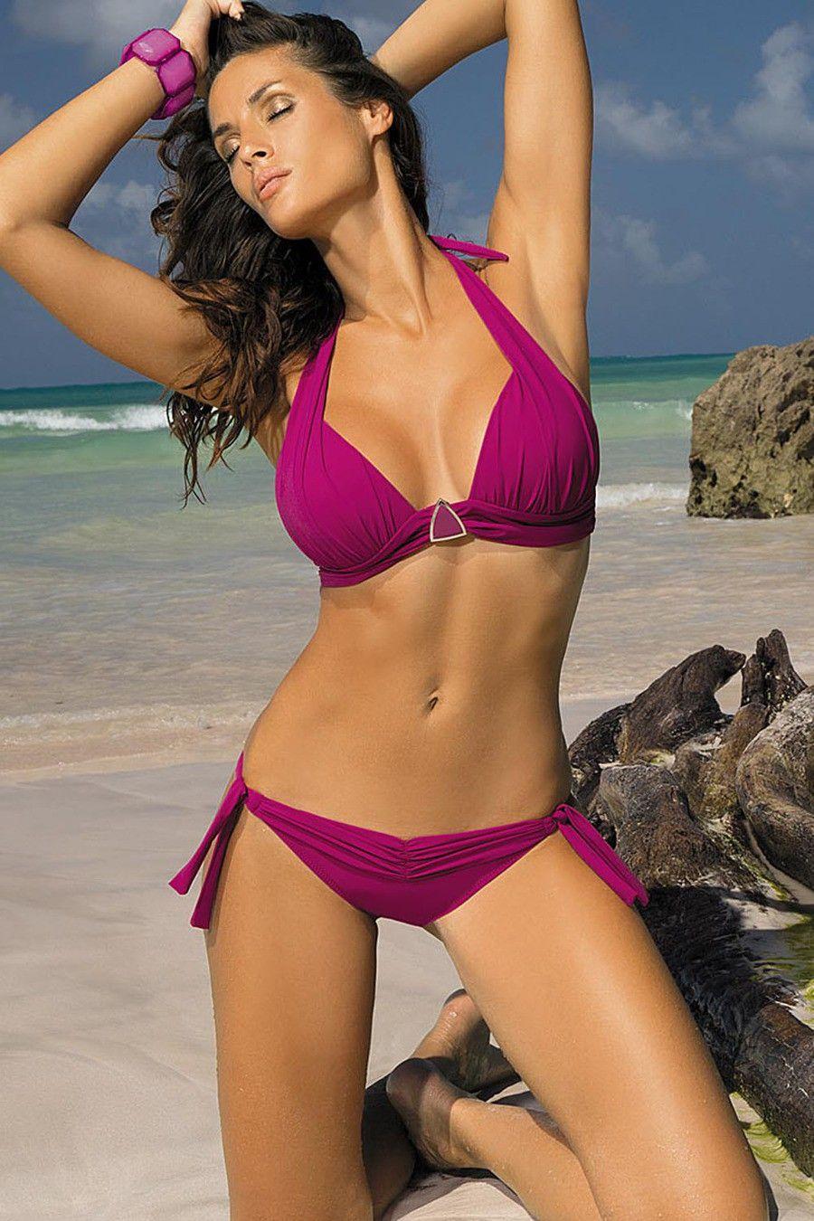 27757e490 Marko Liza M-252 Two Piece Dark Pink Bikini  swimwear