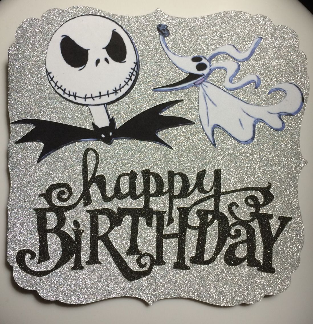 Happy Birthday Jack Skellington Card Happy Birthday Halloween