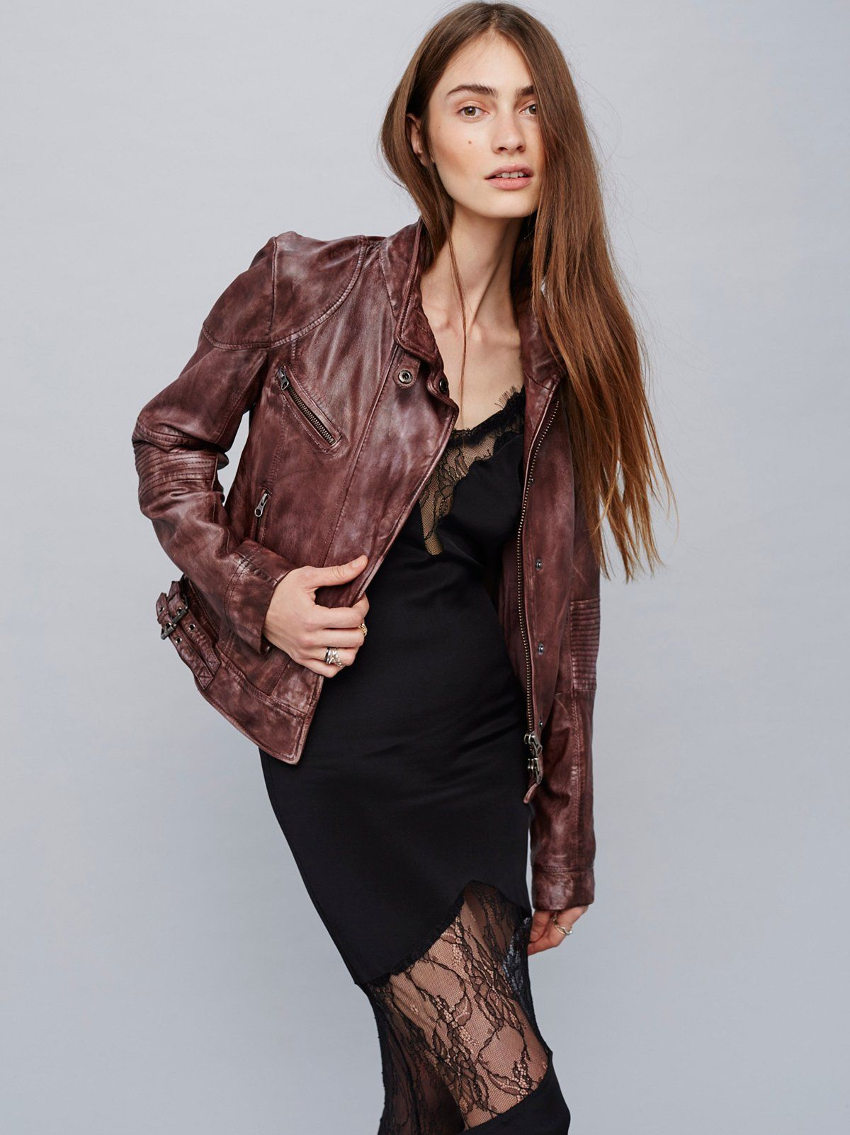 Fitted And Rugged Leather Jacket Leather Jacket Fashion Rugged Leather