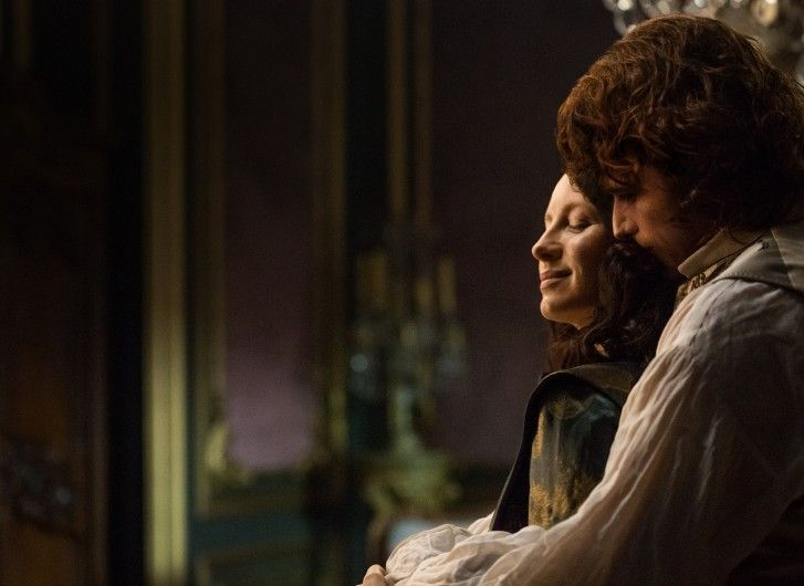 Get a sneak peek of the new season with some exclusive first-look photos of Claire and Jamie in Paris.