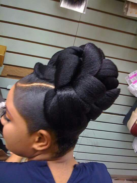 This Bun Is Awesome The Gel Not So Much Black Hair Updo Hairstyles Natural Hair Styles Hair Styles