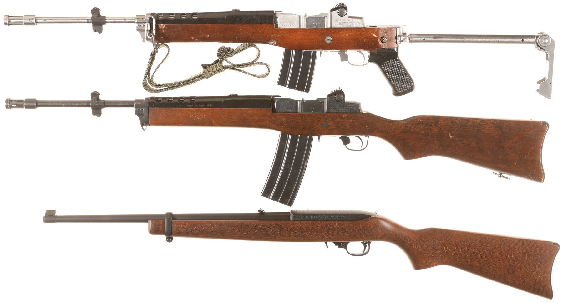 Three Ruger Semi-Automatic Longarms | GUN - Ruger Mini 15 | Guns