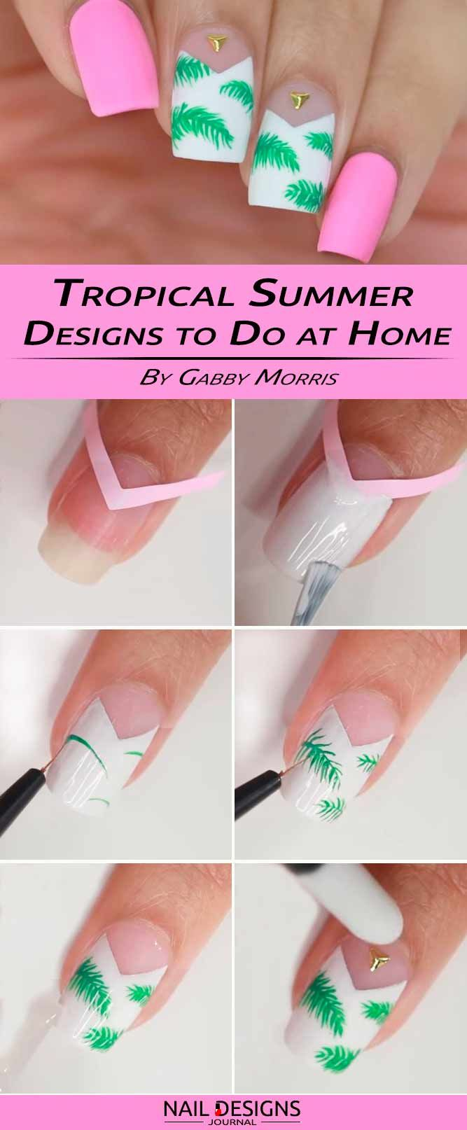 12 Step By Step Tutorials How To Do Nail Designs At Home Manicure