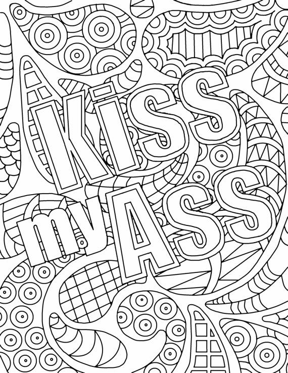 Nifty image throughout printable swear word coloring pages