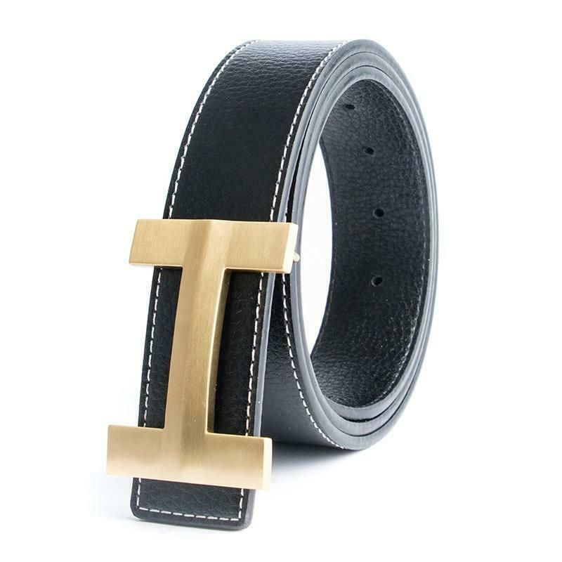 Leather H Genuine Real Buckle Strap for Jeans Luxury Brand Designer Belts Casual