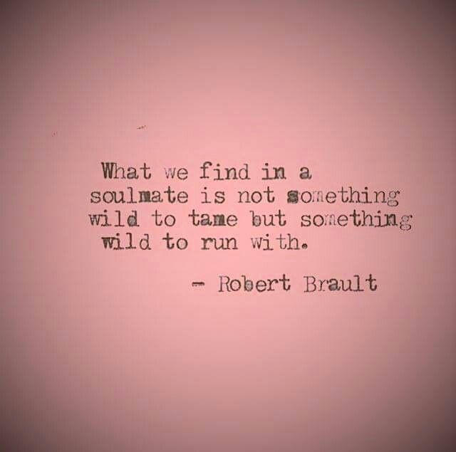 What we find in a soulmate is not something wild to tame but ...
