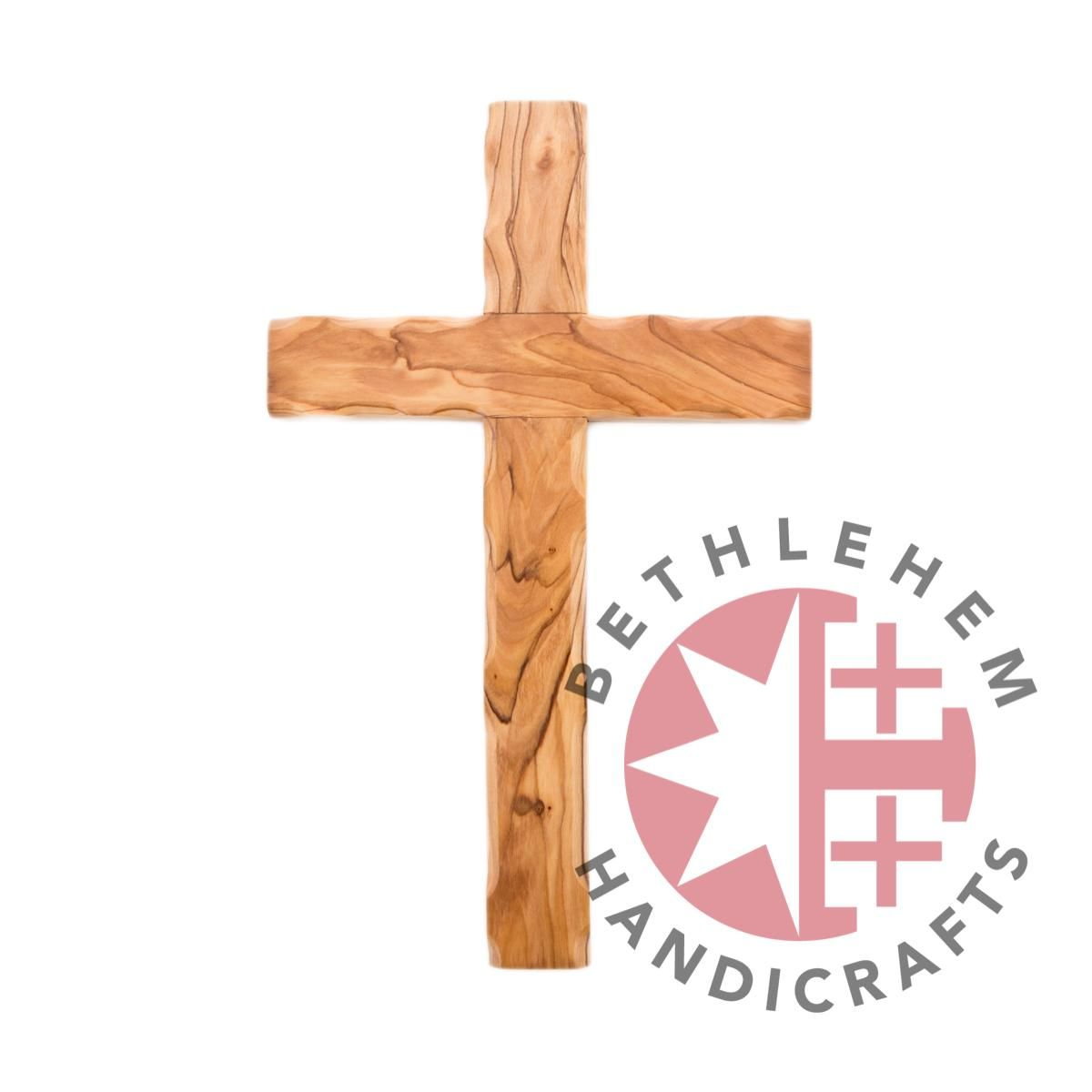 Wood carved cross as we place jesus christ in our hearts and seek