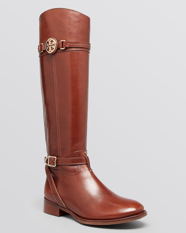 daef975dc3d0 Tory Burch Calista Almond Tall Flat Riding Boots  Sale  371.25