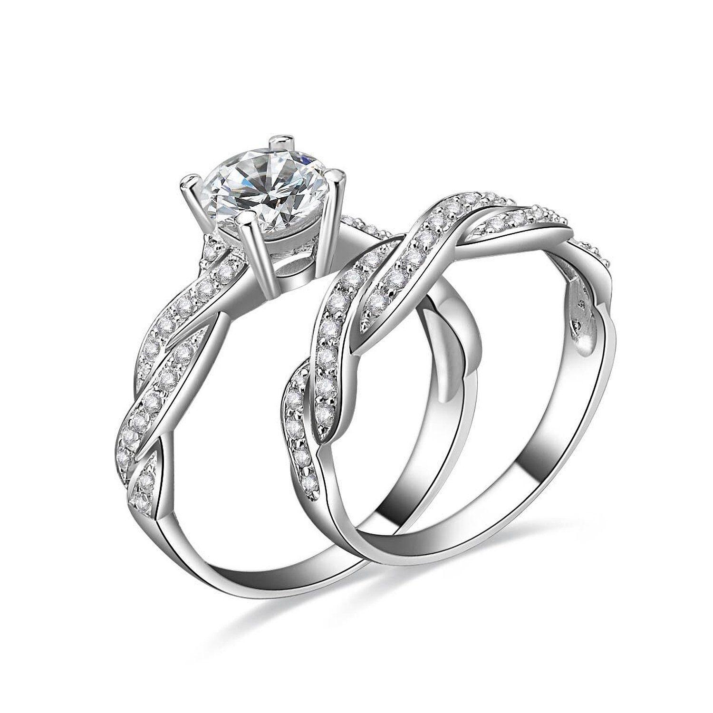 jewelrypalace bijoux magnifique bagues de fian ailles femme alliance mariage anniversaire. Black Bedroom Furniture Sets. Home Design Ideas