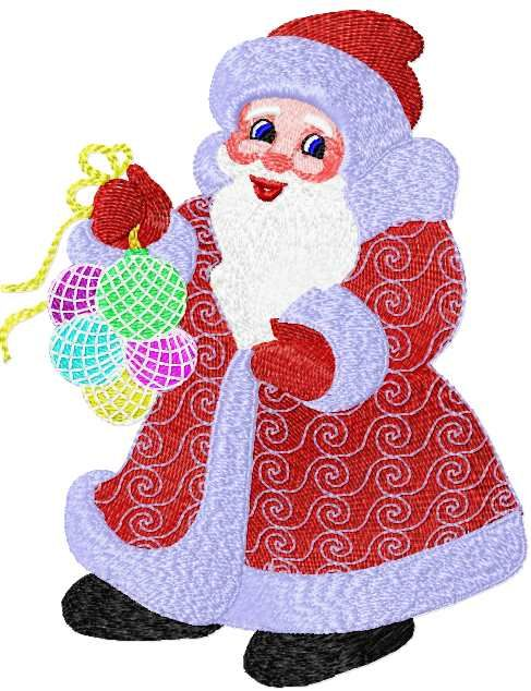 Santa Claus Free Embroidery Design 5 Christmas Free Embroidery