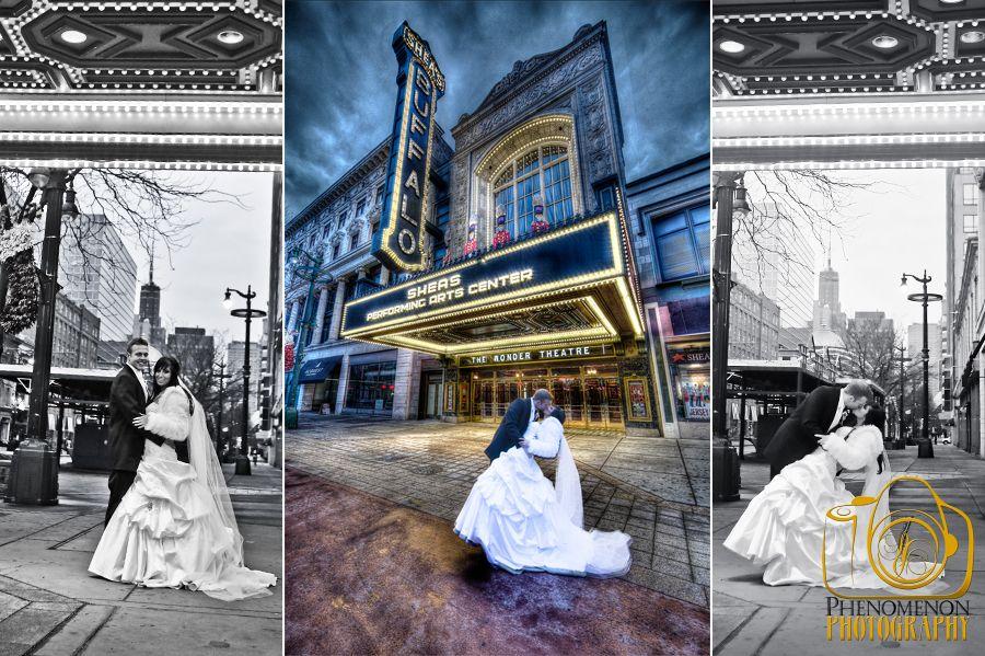 Sheas Performing Arts Center Buffalo Wedding Photography HDR