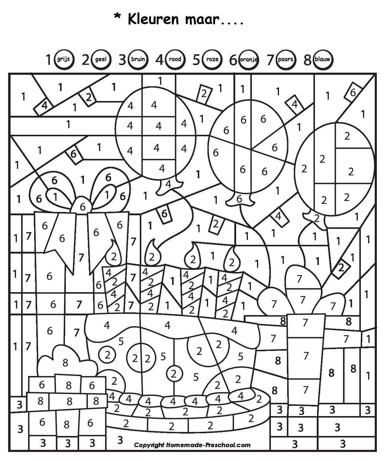 5aa51deb213f2af1f7d834c53c71f938 Jpg 1 275 1 529 Pixels Knutselen Thema Feest Kleuren Met Nummers Thema