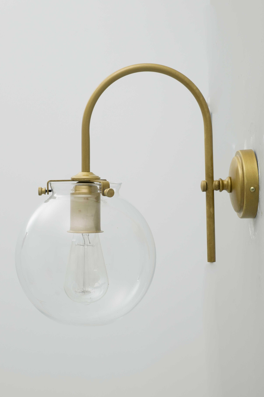 Aplique Pared Pintura Oro Y Bola Transparente Con Imagenes Apliques De Pared Iluminacion De Pared Lamparas Para Bano