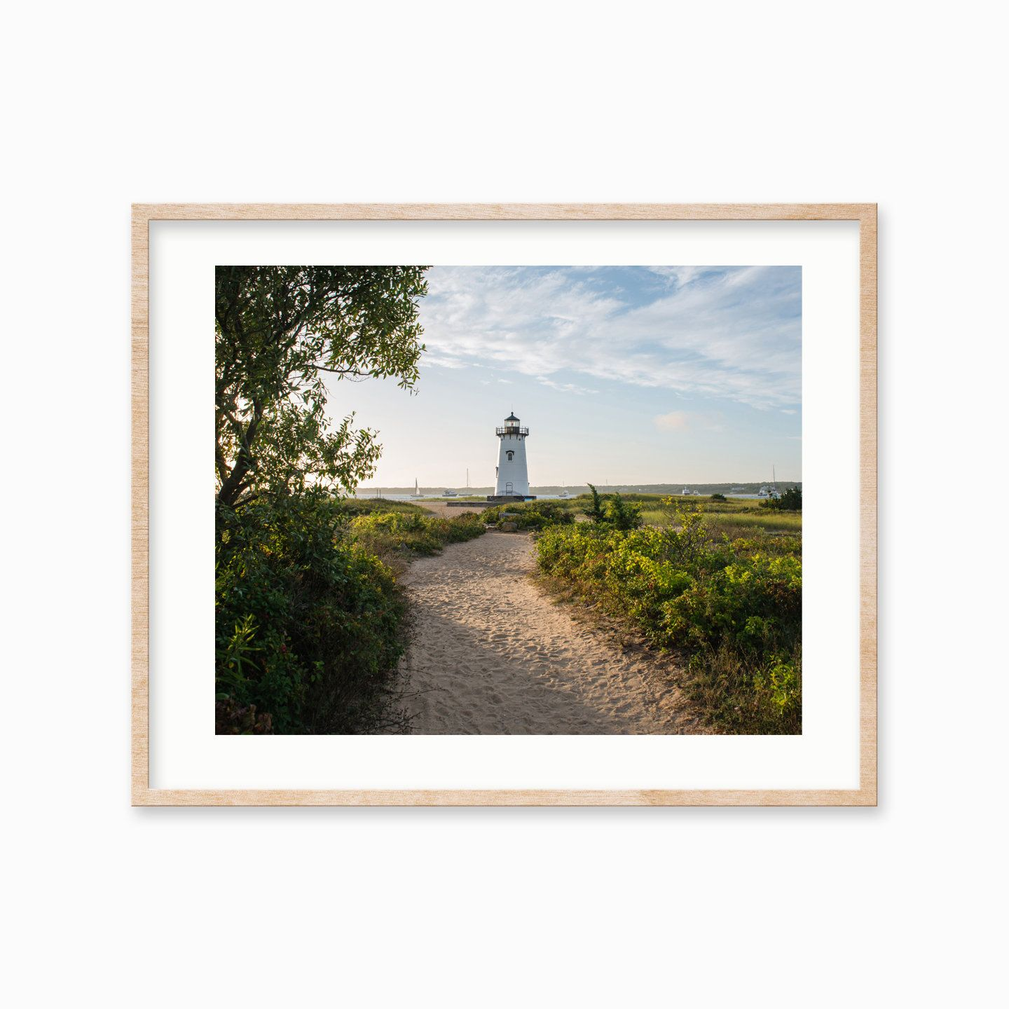 Edgartown Lighthouse Sail Boats Seagrass Martha S Vineyard Photography Photographs Art Prints Blank Pho Vineyard Photography Photo Wall Art Lighthouse Print